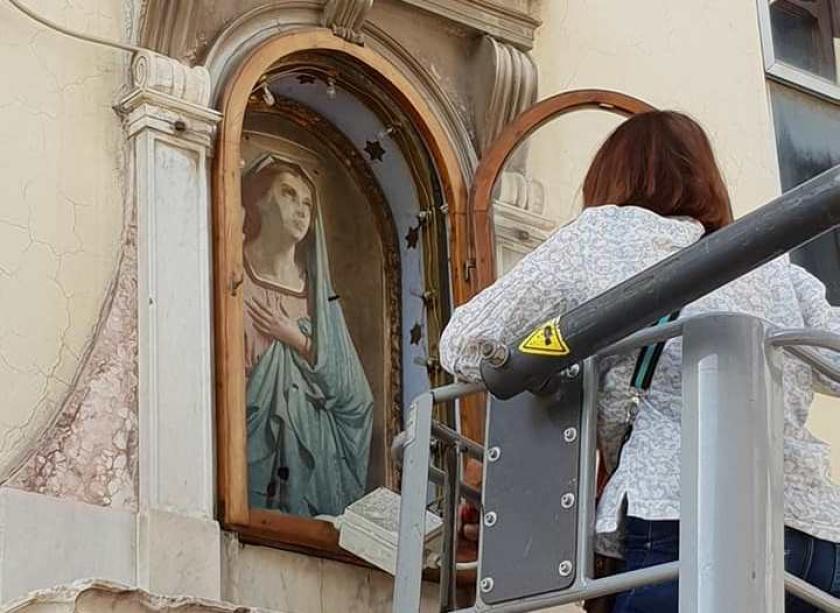 Risultati immagini per restauro madonna del ponte vecchio a pieve santo stefano di stefano bardini